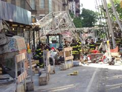 Crane Collapse, 91sr and 1st, NYC, 5/30/2002